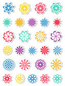 Conjunto de flores. ilustração vetorial. — Vetorial Stock