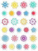 Set di fiori. illustrazione vettoriale. — Vettoriale Stock