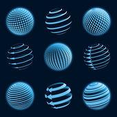 Iconos de planeta verde. ilustración vectorial. — Vector de stock