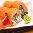 Philadelphia salmon sushi on plate — Foto Stock