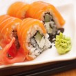 Philadelphia salmon sushi on plate — Stock Photo