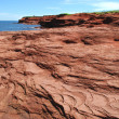 Cavendish red rocks, Prince Edward Island — Stock Photo