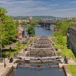 Rideau Canal Locks — 图库照片