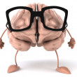 Brain with Glasses — Stock Photo #5401286