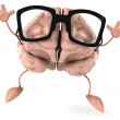 Brain with Glasses — Stock Photo