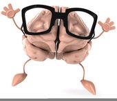 Cervello con occhiali — Foto Stock