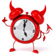 Evil Alarm clock — Stock Photo #5663187