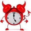 Evil Alarm clock — Stock Photo #5663204