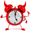 Evil Alarm clock — Stock Photo #5663208