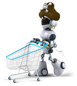 Fun robot pirate — Stock Photo