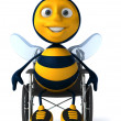 Stock Photo: Bee in wheelchair