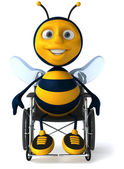Bee in a wheelchair — Stock Photo