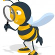 Stock Photo: Fun bee searching
