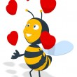 Fun bee in love — Stock Photo