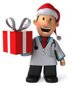 Läkare med en gåvor — Stockfoto