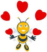 Fun bee in love — Stock Photo