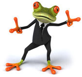 Fun frog dancing — Stock Photo