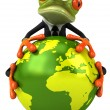 Foto de Stock  : Frog protecting world