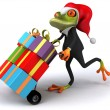 Frog with gifts — Stock fotografie