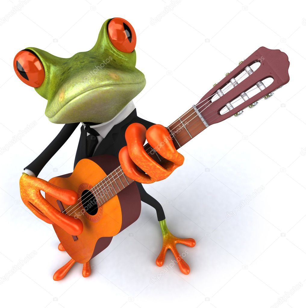 Frog with a guitar — Stock Photo #6084552