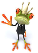 Frog of the king — Stock Photo