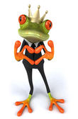 King frog showing love — Stock Photo