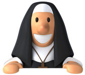 Nun 3d — Stock Photo