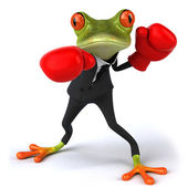 Frog boxing — Stock Photo