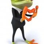 Frog Businessman — Stock Photo