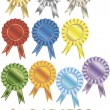 Stock Vector: Set of rewards-rosettes