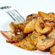 Royalty-Free Stock Photo: Potato wedges fried