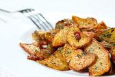 Potato wedges fried — Stock Photo