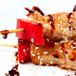 Japanese kebabs chicken - Stock Photo