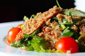 Salad with eel and couscous — Stock Photo