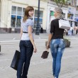 Walking for shopping — Stock Photo