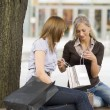 Chatting on shopping — Stock Photo