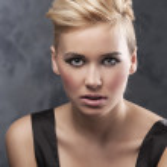 Close up of fashion hair stylish girl — Stock Photo