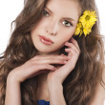 genç güzel portre kız — Stok fotoğraf