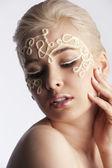 Portrait of a blonde model posing — Stock Photo