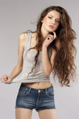 Fashion shot of a young girl — Stock Photo