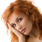 Honey redhead girl — Stock Photo