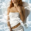 The white angel — Stock Photo