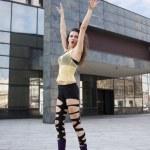 Modern dancer on pointe — Stock Photo