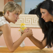 Arm wrestling — Stockfoto