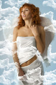 Den vita ängeln — Stockfoto