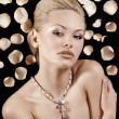 The blond with necklace — Stock Photo
