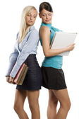 Two student girls — Stock Photo