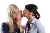 Women whisper — Stock Photo