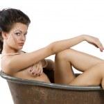 Old fashion bathtub — Stock Photo #6294159