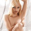 Beautiful blonde young woman posing nude - Stock Photo